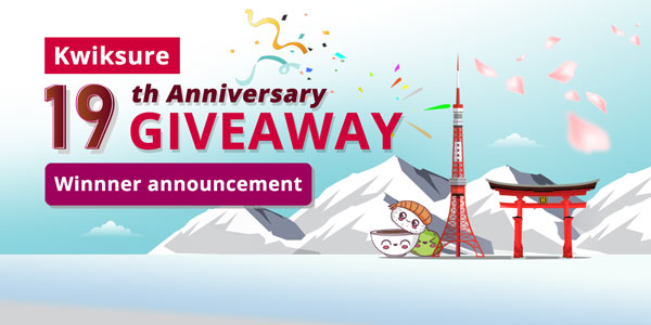 Kwiksure announces winners of 19th anniversary giveaway
